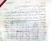 امضای شهید پای کارنامه فرزندش