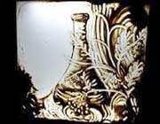 картины песком на стекле