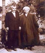 علامه کرباسچیان و استاد رضا روزبه موسس و اولین مدیر دبیرستان علوی