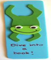frog bookmark craft