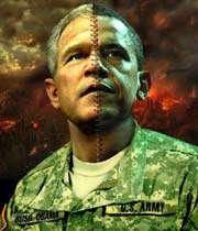 اوباما و بوش