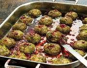 pistachio-pomegranate meatballs