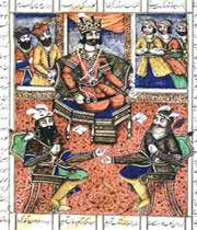 illustration du shahnameh, époque qajare