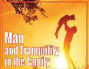 man and tranquillity in the family
