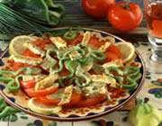 salade de tomates à l'omelette