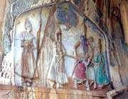 bas-relief du fils de fath 'ali shah à taq-e boustan