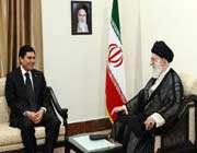 le guide suprême de la révolution islamique a reçu le président du turkménistan