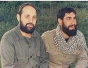 توضیح عکس: از راست : پرویز دشتی ، سردار شهید حاج قاسم نصرالهی- کردستان-بانه-سال 1364