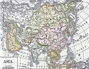 carte de l'asie en 1892