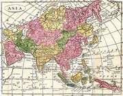 carte de l'asie en 1808