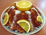 کیک پرتقال و نارگیل
