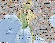 carte de birmanie