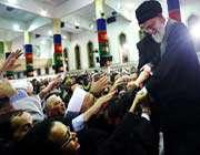 réunion du guide suprême avec des participants au congrès les professeurs et l'éveil islamique