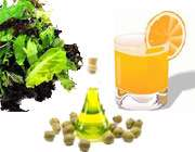 آب پرتقال روغن زیتون و سبزیجات