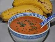 potage à la banane et à la tomate