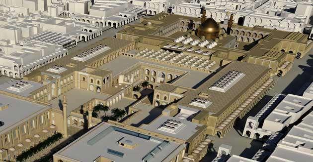 نمایی از طرح نهایی صحن حضرت زهرا سلام الله علیها