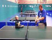 tennis playing toddler with amazing ping-pong skills