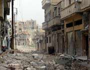 destruction in syria's central restive city of homs