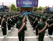 le guide suprême à l'école militaire imam hussayn (as)