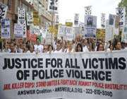 americans protest police brutality in california