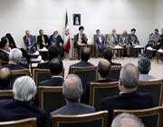 réunion du guide suprême avec le président et le conseil ministériel de la 10ème administration