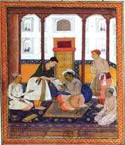 jahangir admire une peinture, collection du département des estampes et de la photographie de la bibliothèque nationale de france