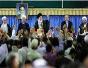 audience accordée aux responsables du régime et aux ambassadeurs des pays islamiques
