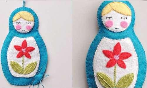 الگوی لباس پشت باز آموزش ساخت عروسک نمدی