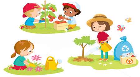 نتیجه تصویری برای جمع آوری زباله ها از محیط زیست کودکانه