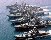 десять российских военных кораблей проведут учения в каспийском море