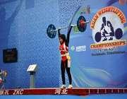 исламский хиджаб на азиатском чемпионате по тяжёлой атлетике в ташкенте