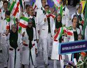 участие иранских спортсменов в церемонии открытия олимпиады-2016 в рио-де-жанейро