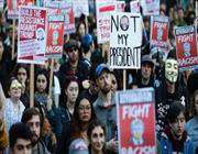 распространение протестов против трампа на европу