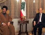 سید حسن نصر اللہ کی لبنانی صدر میشل عون کو مبارک بادسید حسن نصر اللہ کی لبنانی صدر میشل عون کو مبارک باد