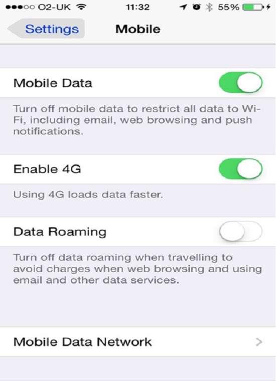 5 ترفند کاهش مصرف اینترنت دیتای آیفون