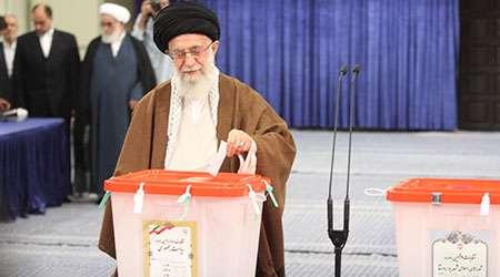 گزارش اختصاصی تبیان از حضور رهبر پای صندوق رای