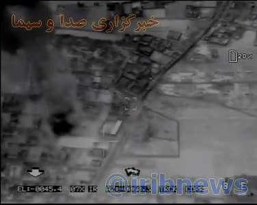 لحظه اصابت موشکهای نقطهزن سپاه به اهداف از پیش تعیین شده