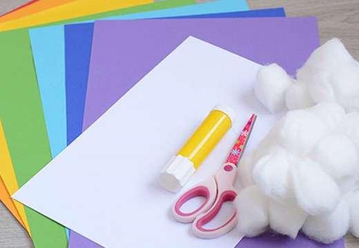 رنگین کمان سه بعدی کاغذی