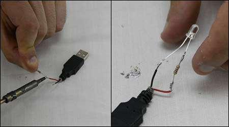 آموزش ساخت لامپ یو اس بی