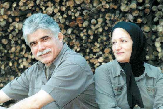 اکبر اکسیر و همسرش