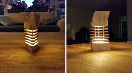 چگونه لامپ تزیینی چوبی بسازیم
