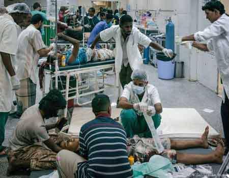 مستشفى عدن لم يعد قادراً على استقبال جرحى وقتلى المرتزقة