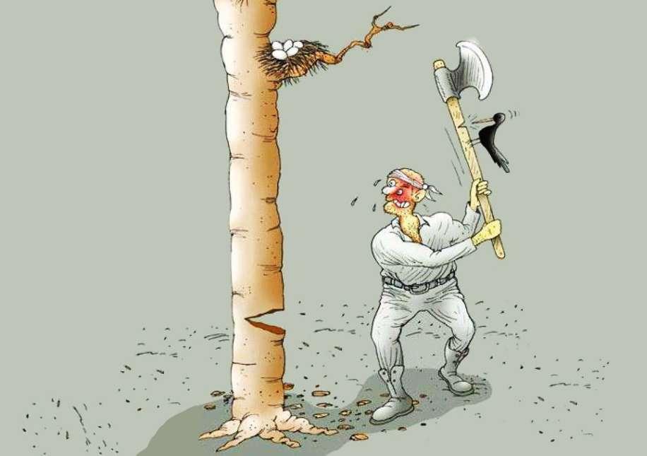 چاه مکن بهر کسی اول خودت بعدا کسی