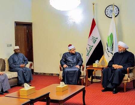 رئيس جماعة علماء العراق يشكر العتبة الحسينية على استضافتها وفداً من علماء الازهر