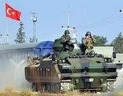 ترک فوج کا شام میں دہشت گردوں کے خلاف آپریشن جاری