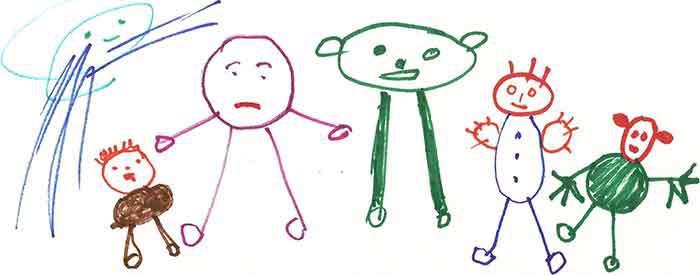 آدمک نقاشی کودکان