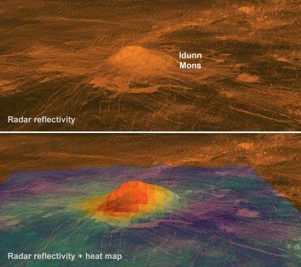 آتشفشان های فعال در سیاره ناهید