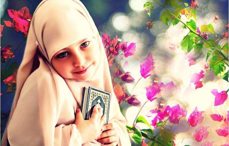دختر و قرآن
