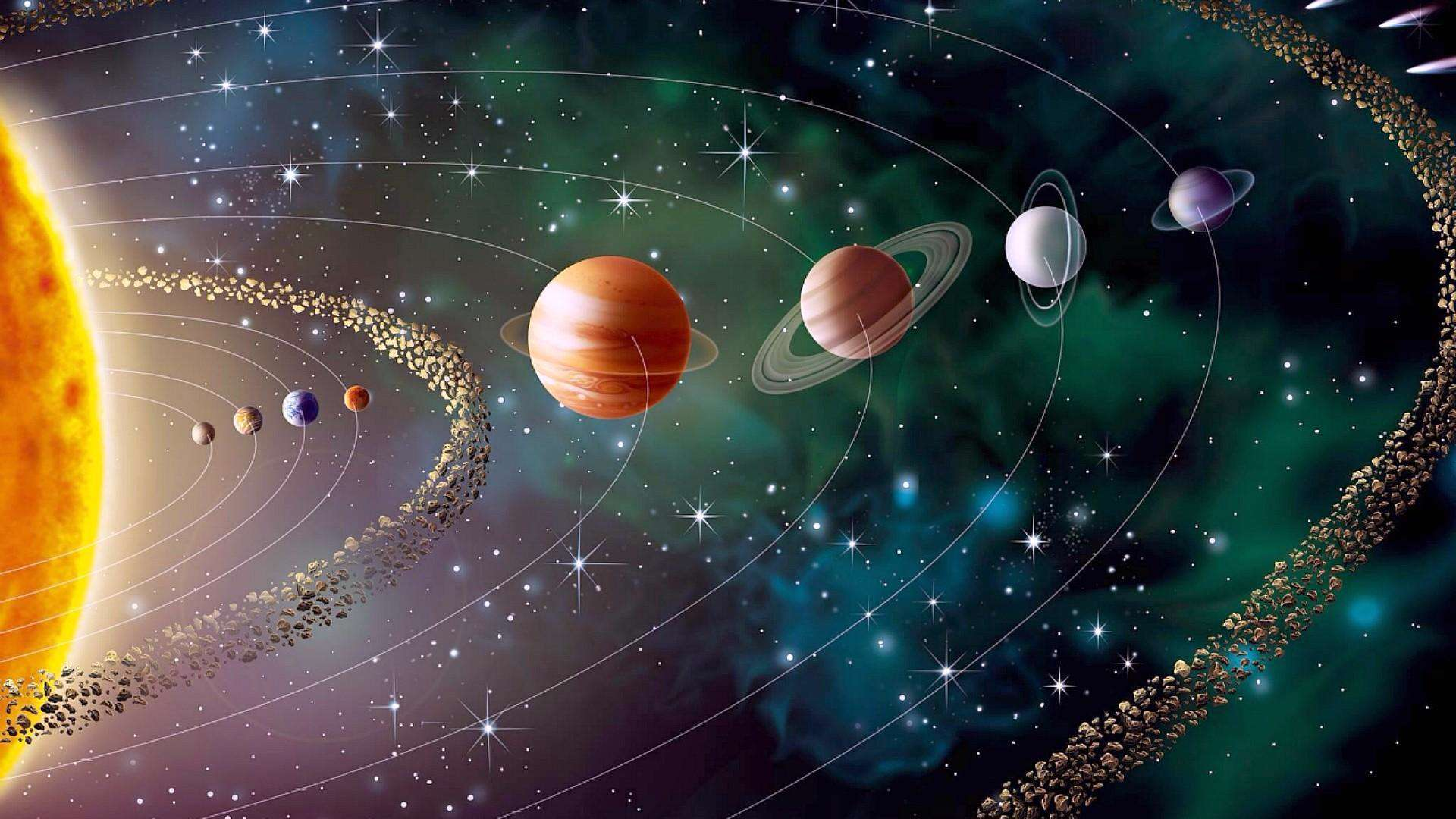artists concept our solar system solar system - HD1920×1080