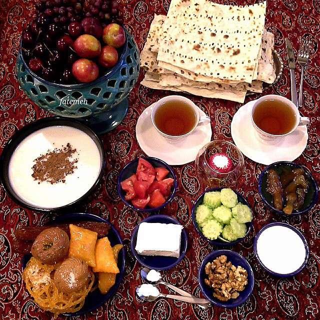 سفره افطار، تزیین، تم رمانتیک، تزئینات، غذاهای ایرانی، زیبایی، فوت و فن، آموزش و کاردستی